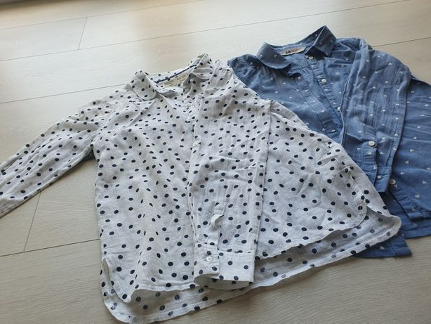 Koszule niebieska (H&M) i biala (ZARA)