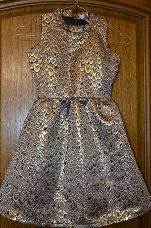 Sukienka balowa, weselna dla dziewczynki żakardowa glamur nowa