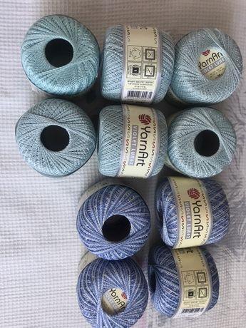 Нитки доя вязание yarnart violet lurex