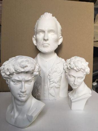 Гіпсова голова Давида, Медичи гипсовая скульптура бюст декор постановк