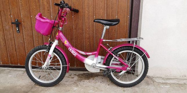 Rowerek dla dziewczynki kółka 16 cali, rezerwacja do 02.03.