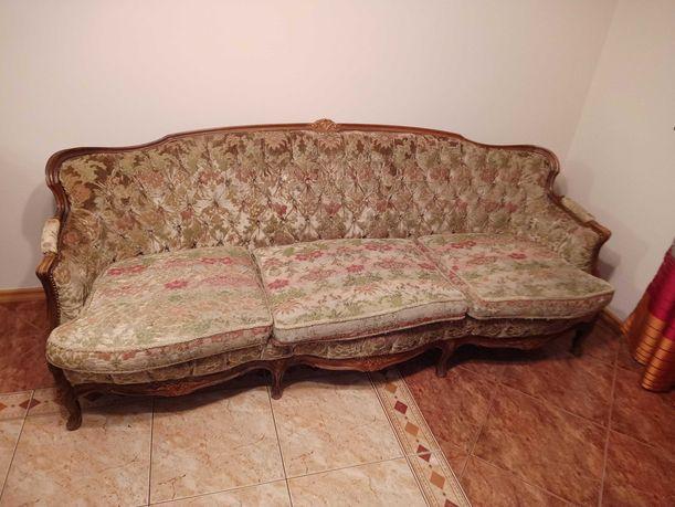 kanapa i 2 fotele, wypoczynek Ludwik