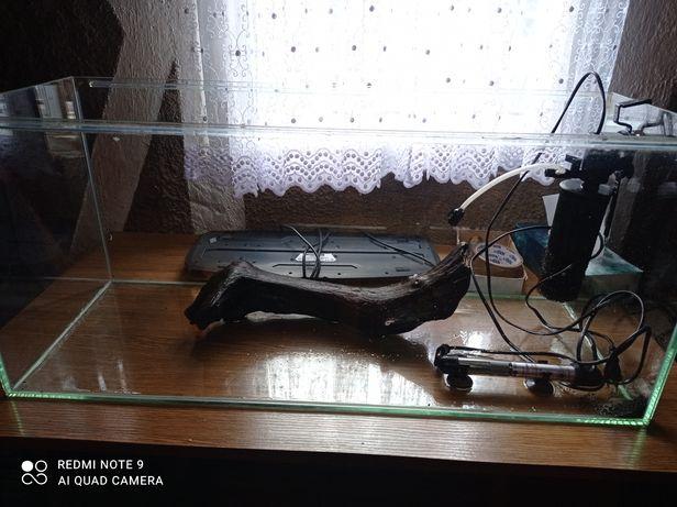 Akwarium 80l + całe wyposażenie