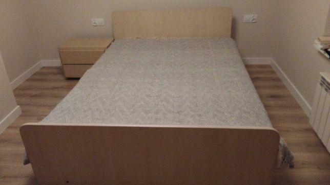 Łóżko do sypialni z szafką