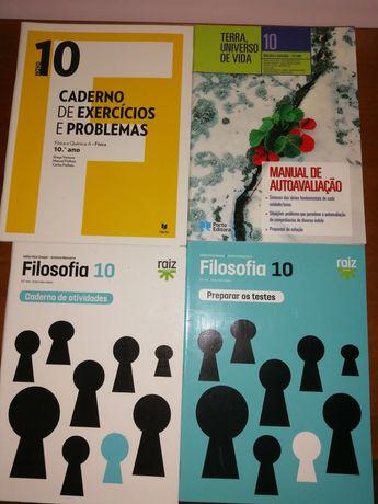 Cadernos de atividades  Física , Biologia /Geologia e Filosofia 10°ano