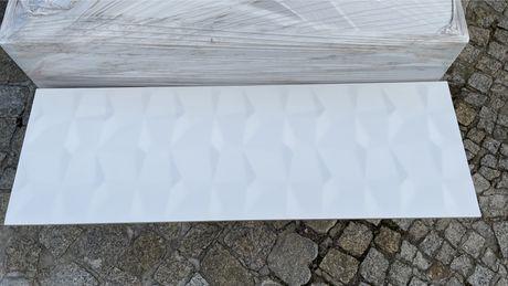 33 m2 hiszpańskich ściennych płytek ozdobnych Vary Blanco Brillo