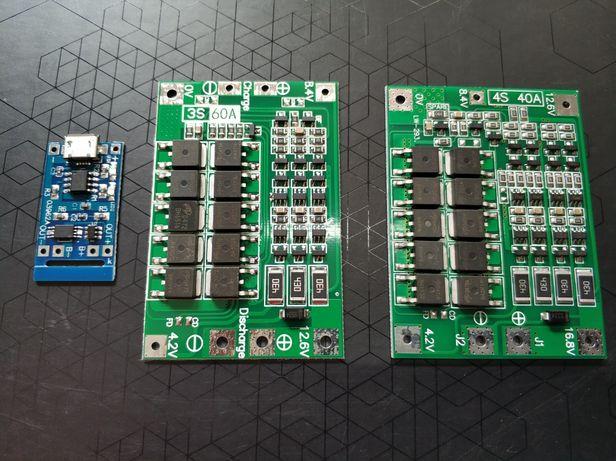 Placas de carregamento de baterias de 3.7v  -  BMS  p/ baterias 18650