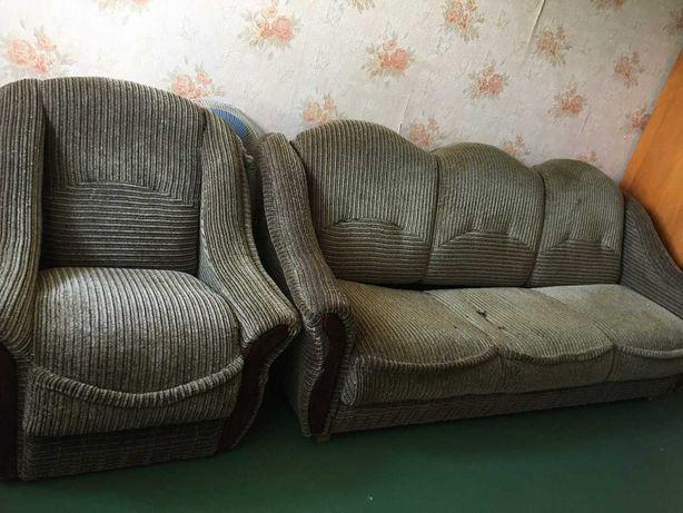 Диван и кресло 4500руб