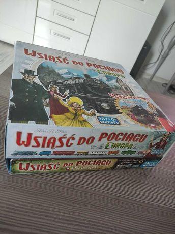 Gra planszowa Wsiąść do pociągu Europa + Polska