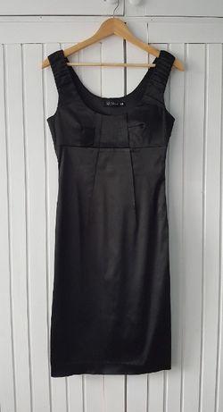Elegancka Czarna Ołówkowa Sukienka Midi, Top Secret