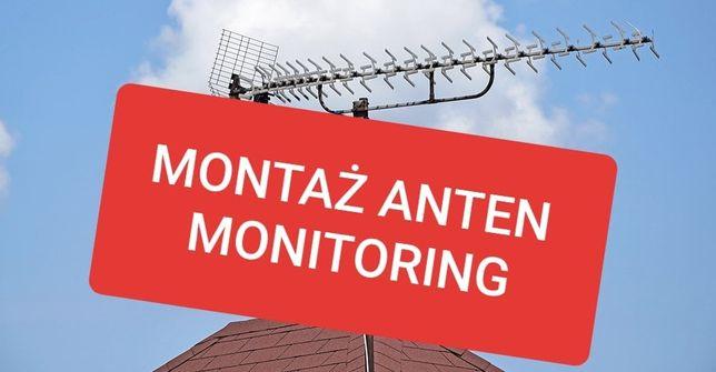 Montaż ustawianie anten satelitarnych naziemnych DVB-T ustawienie LTE