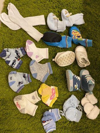 Обувь для новорождённых 0+, топики, пинетки, носочки, варежки