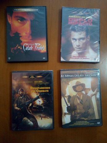 DVD-Cidade Perdida/Duplo Impacto/Desaparecido Combate/Minas Salomao