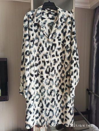 Платье рубашка большого размера Lindex
