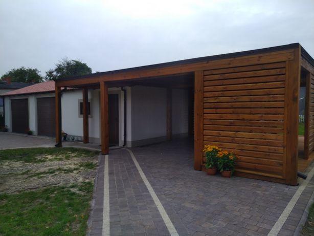 Nowoczesne wiaty garażowe bart-wood