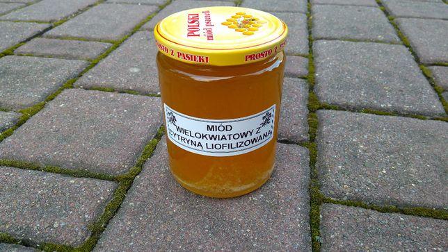 Miód Wielokwiatowy z Cytryną Liofilizowaną 500ml