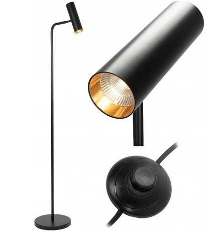 Lampa stojąca PODŁOGOWA Black LOFT CZARNA nowoczesna TUBA