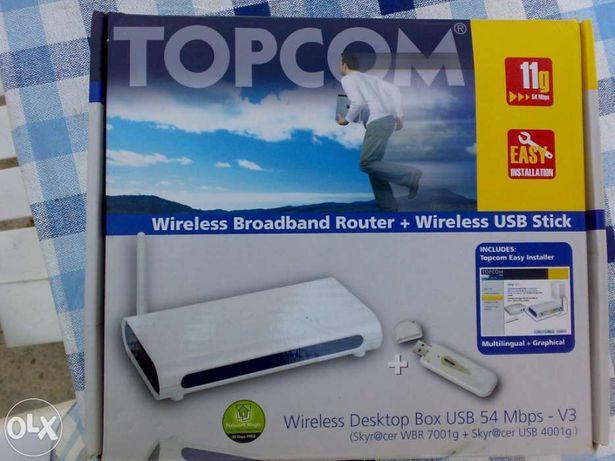 Topcom router wireless mais usb wireless