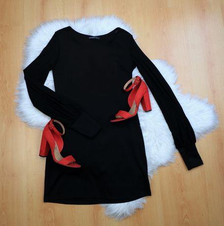 Sukienka  czarna mała rekawy z siateczki
