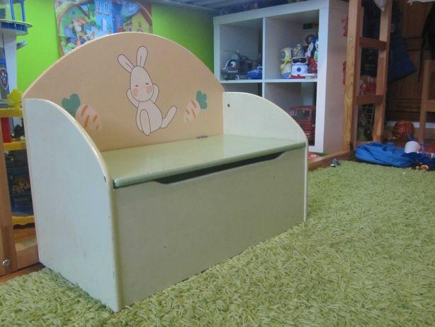 Banco-caixa de arrumação (quarto criança-Bebé)