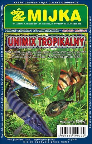 mrożony pokarm dla ryb UNIMIX TROPIKALNY 100g.