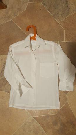Biała koszula dla chlopca, 4-5lat, cienka