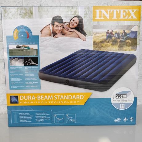 Надувной матрас велюр Intex. Надувний матрац. Интекс