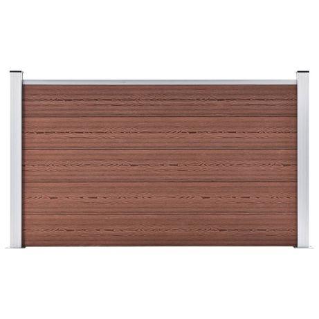 vidaXL Painel de vedação para jardim 180x105 cm WPC castanho 49072