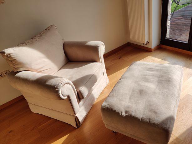 2 fotele, kanapa 3 podnóżki