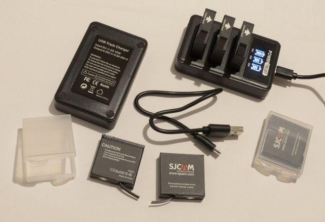 POTRÓJNA 3x ładowarka + 2x akumulatory SjCam SJ8 Pro SJ8 Plus SJ8 Air