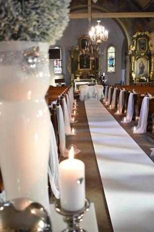 Alejka ślubna - dekoracja kościoła