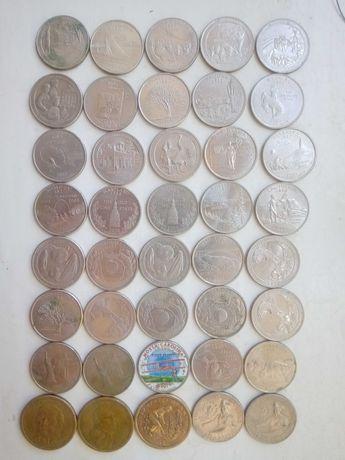 Коллекция квотеров США 25 центов