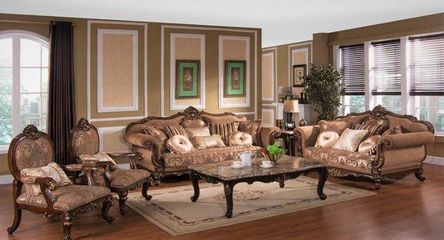 Stylowy wypoczynek Nowy komplet z jednym fotelem ludwik barok rococo