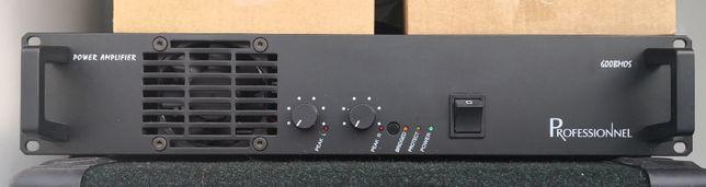 Amplificador 600W + pare de colunas PRO
