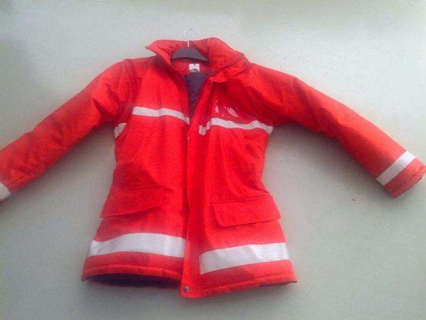 Kispo impermeável, casaco, L, vermelho, com reflectores, Bombeiro