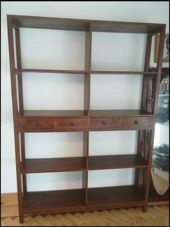 separador, biombo, livreiro, armario, estante, rustico