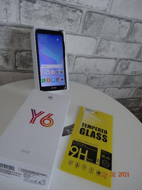 Smartfon HUAWEI Y6 2018 BLUE, DUAL SIM bardzo zadbany