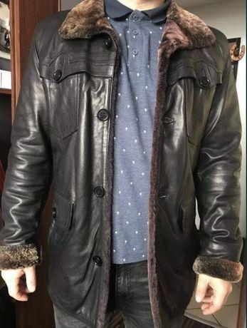 Naturalna skorzana kurtka zimowa