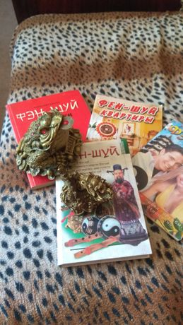 Продам книги б/у по фэн-шуй все одним лотом 150гр+лягушка+дракон