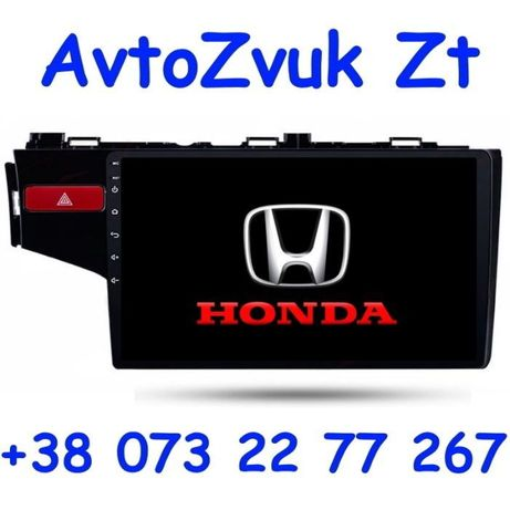 Магнитола JAZZ Honda FIT GPS USB DVD TV 4G Джаз Фит дисплей Android 10
