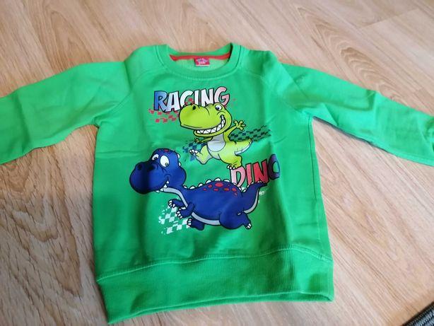 Zielona bluza z dinozaurami 104