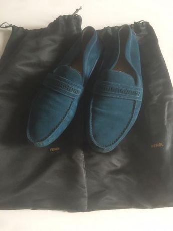 Fendi мокасины ( туфли ) замшевые