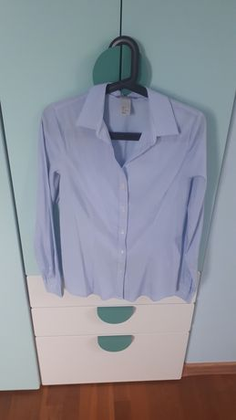 Koszula damska niebieska w paski H&M rozmiar 36