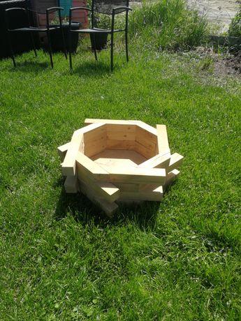 Doniczka drewniana dębowa