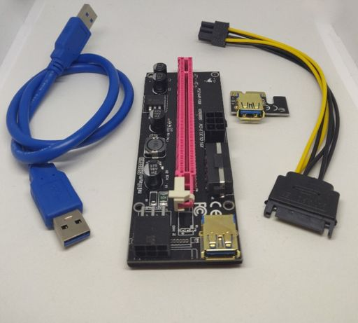 PCI-E Riser Adapter Mining Card 009S | Portes Grátis