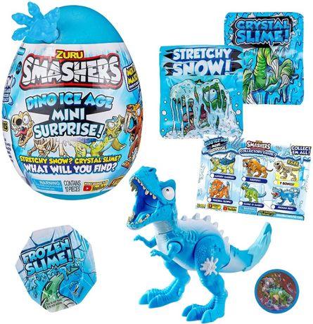 Яйцо сюрприз с динозавром, Smashers Dino Ice Age Mini Surprise Egg by