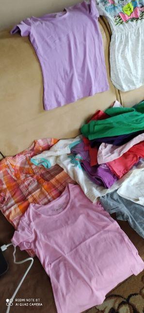 bluzka z krótkim rękawem dla dziewczynki 122 128 t-shirt 20 st koszulk