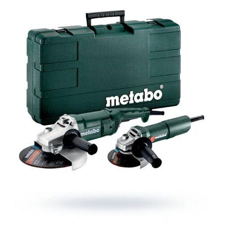 Zestaw szlifierek kątowych Metabo WE2200 + W750 WALIZKA 230mm+125mm