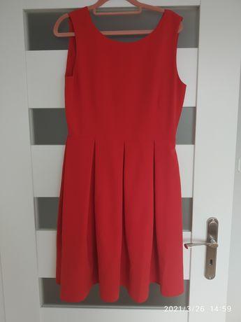Sukienka nowa house L czerwona rozkloszowana święta wesele
