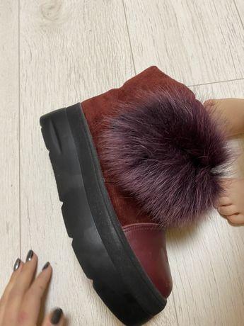 Зимние ботинки, сапоги, на платформе